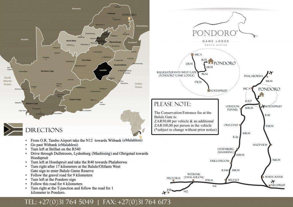 Pondoro Map to print