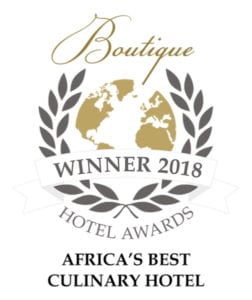 Boutique Hotel Awards - Pondoro Best Culinary Hotel